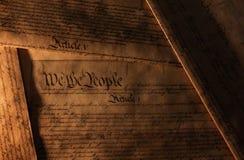 De Grondwet van de V.S. stock foto's