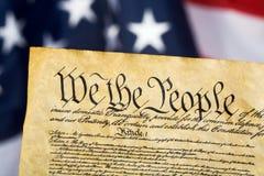 De Grondwet van Verenigde Staten royalty-vrije stock fotografie