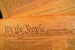 De Grondwet van Verenigde Staten stock fotografie