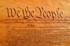 De Grondwet van Verenigde Staten Stock Afbeelding