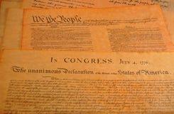 De Grondwet van Verenigde Staten Royalty-vrije Stock Foto