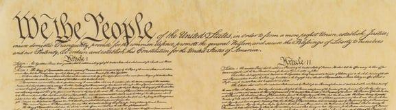 De Grondwet van de Verenigde Staten van Amerika royalty-vrije stock foto's