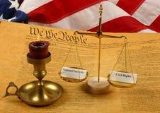 De Grondwet van Verenigde Staten, het wegen van Schalen   Royalty-vrije Stock Fotografie