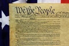 De Grondwet van Verenigde Staten, wij de Mensen Stock Afbeeldingen