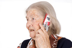 De grootmoeder spreekt Royalty-vrije Stock Foto's