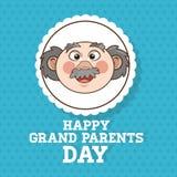 De grootouders ontwerpen, mensenvector Stock Afbeelding