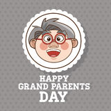 De grootouders ontwerpen, mensenvector Royalty-vrije Stock Foto