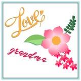 De grootouders van de kaartdag, de inschrijving met mooie liefde, Stock Foto's