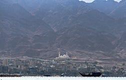 De grootste Jordanian moskee royalty-vrije stock foto