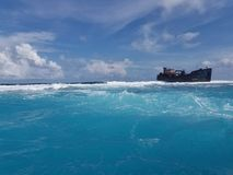 3de grootste koraalbarrière van de wereld stock foto