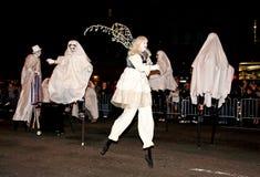 De grootste Parade van Halloween Stock Afbeeldingen