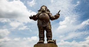 De grootste tribune van Ganesh Park The stock videobeelden