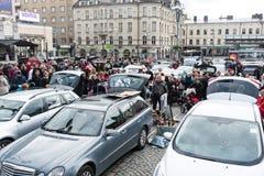 De grootste vlooienmarkt in Tampere, Finland, vond op 17 September 2017 plaats Royalty-vrije Stock Fotografie