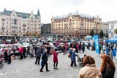 De grootste vlooienmarkt in Tampere, Finland, vond op 17 September 2017 plaats Royalty-vrije Stock Afbeeldingen