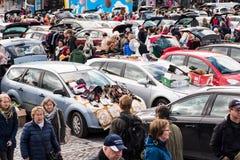 De grootste vlooienmarkt in Tampere, Finland, vond op 17 September 2017 plaats Royalty-vrije Stock Afbeelding