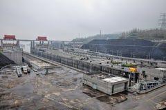 De Grootste Waterkrachtcentrale in de Wereld - Drie Klovendam op Yangtze-rivier in China royalty-vrije stock afbeelding