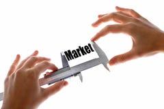 De grootte van onze markt royalty-vrije stock fotografie