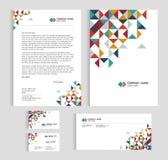 De groottea4 dekking van het lay-outmalplaatje, paginaadreskaartje en brief - laag polydriehoeks scherp abstract Vector vastgeste Royalty-vrije Stock Afbeeldingen