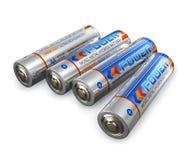 De groottebatterijen van aa Stock Foto's