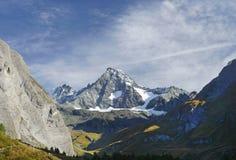 De Grossglockner-berg van het zuiden wordt gezien dat stock afbeeldingen