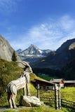 De Grossglockner-berg van het zuiden wordt gezien dat royalty-vrije stock fotografie