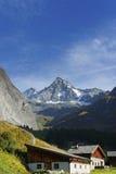 De Grossglockner-berg van het zuiden wordt gezien dat stock foto