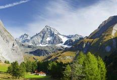 De Grossglockner-berg van het zuiden wordt gezien dat royalty-vrije stock foto's