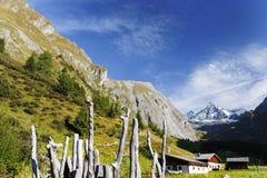 De Grossglockner-berg van het zuiden wordt gezien dat royalty-vrije stock afbeeldingen