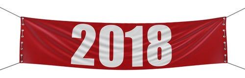 De grote Banner van 2018 Stock Afbeeldingen