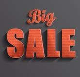 De grote Banner van de Verkoop Stock Afbeeldingen