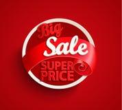 De grote Banner van de Verkoop Stock Afbeelding