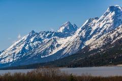 De grote berg van tetonswyoming bij het meer van Jackson Royalty-vrije Stock Foto
