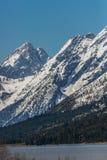 De grote berg van tetonswyoming bij het meer van Jackson Stock Fotografie