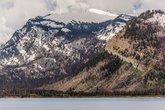 De grote berg van tetonswyoming bij het meer van Jackson Royalty-vrije Stock Foto's