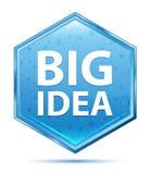 De grote blauwe hexagon knoop van het Ideekristal royalty-vrije illustratie