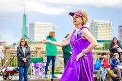 De Grote Bloemenparade 2018 van Portland Stock Foto's