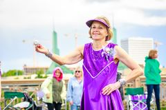 De Grote Bloemenparade 2018 van Portland Royalty-vrije Stock Fotografie