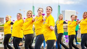 De Grote Bloemenparade 2018 van Portland Royalty-vrije Stock Foto