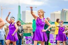 De Grote Bloemenparade 2018 van Portland Royalty-vrije Stock Foto's