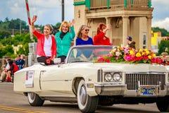 De Grote Bloemenparade 2016 van Portland Stock Fotografie