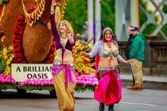 De Grote Bloemenparade 2017 van Portland Stock Afbeelding