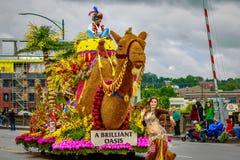 De Grote Bloemenparade 2017 van Portland Stock Afbeeldingen