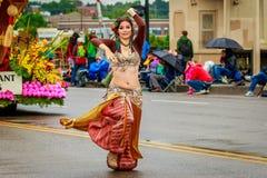 De Grote Bloemenparade 2017 van Portland Royalty-vrije Stock Fotografie