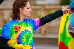 De Grote Bloemenparade 2017 van Portland Stock Foto's