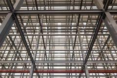 De grote de bouw structuren maakten met staal stock foto's