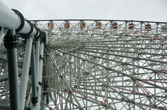 De grote bouw van het wielstaal Stock Foto
