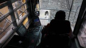 De grote Cabine van de Schopmachine in Mijnbouw stock footage
