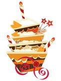 De grote cake van de chocoladeverjaardag Royalty-vrije Stock Afbeelding