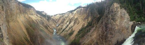De Grote Canion van Yellowstone Royalty-vrije Stock Afbeeldingen