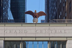 De grote Centrale Stad van New York van de Post Stock Afbeeldingen